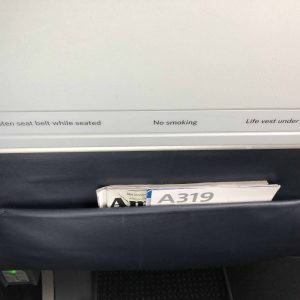 Back of Airplane Seat