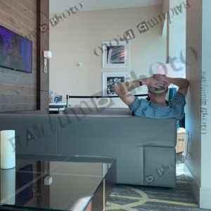 Man in hotel lobby