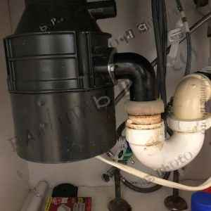 Undersink with garbage disposal
