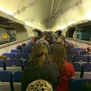 Deplaning flight