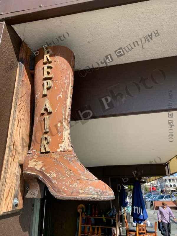 Old boot shoe repair shop